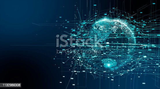 istock Digital earth 5G AI technology 1132986308