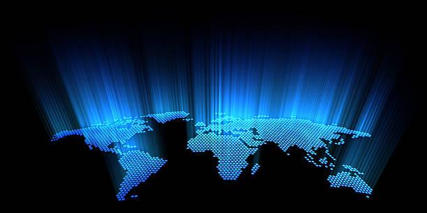 digital earth stock photo