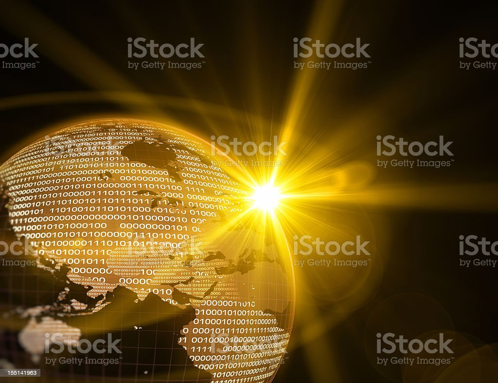 Digital Earth-World Map royalty-free stock photo