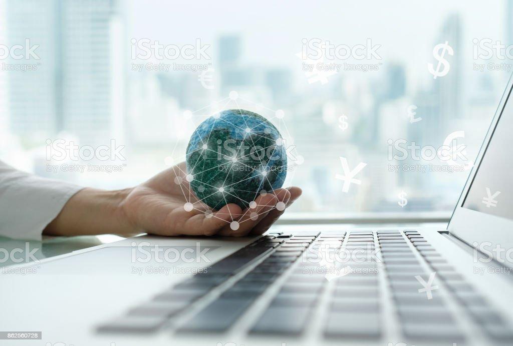digital economy stock photo