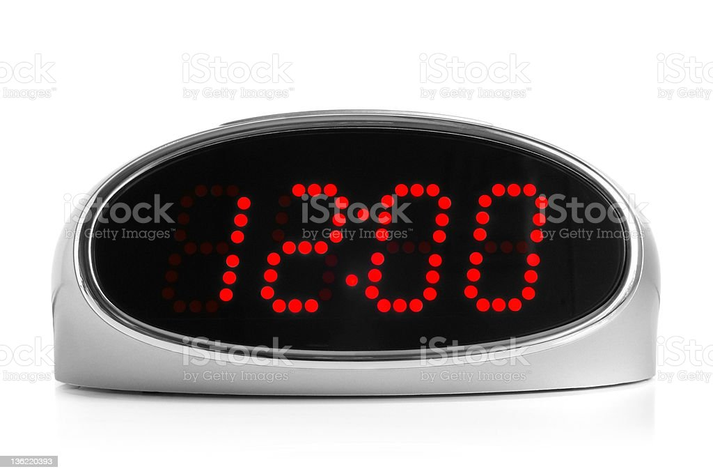 Digital electronic clock stock photo