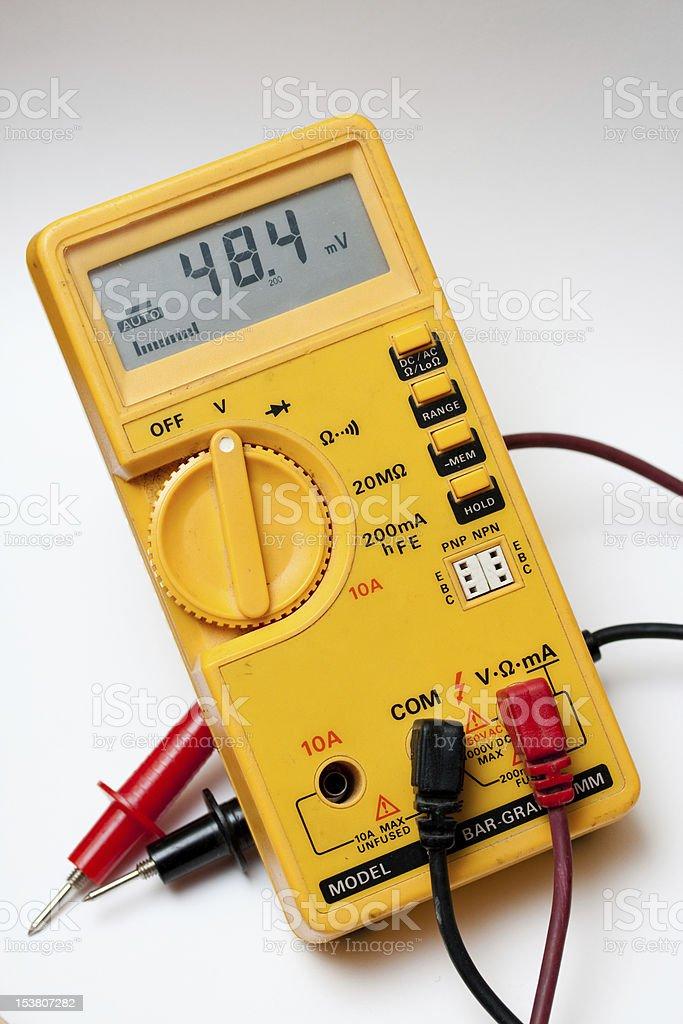 Digital electronic multimeter royalty-free stock photo