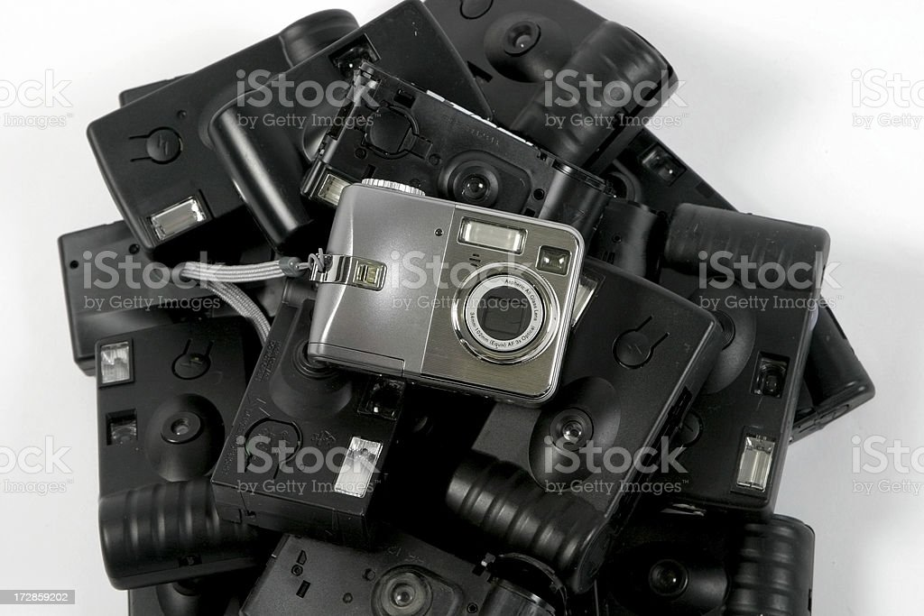 Digital emerges stock photo