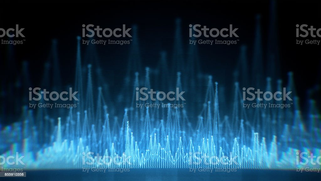 Digital equalizer waveform stock photo
