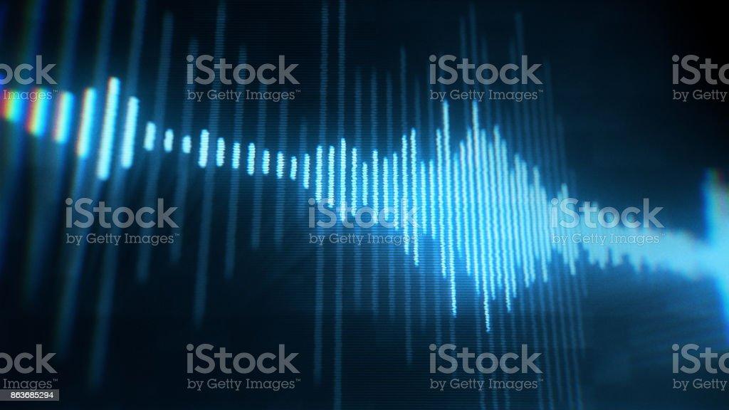 Digital equalizer waveform stock photo