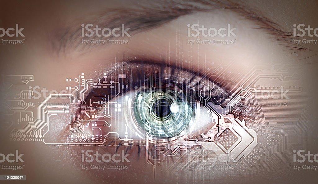 Digital eye stock photo