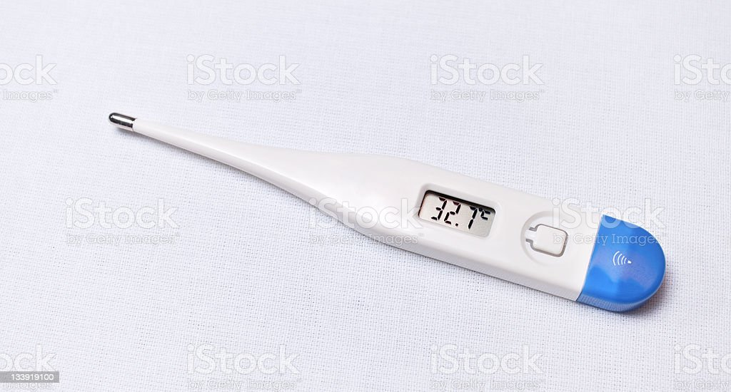 Digital Fever Thermometer royalty-free stock photo