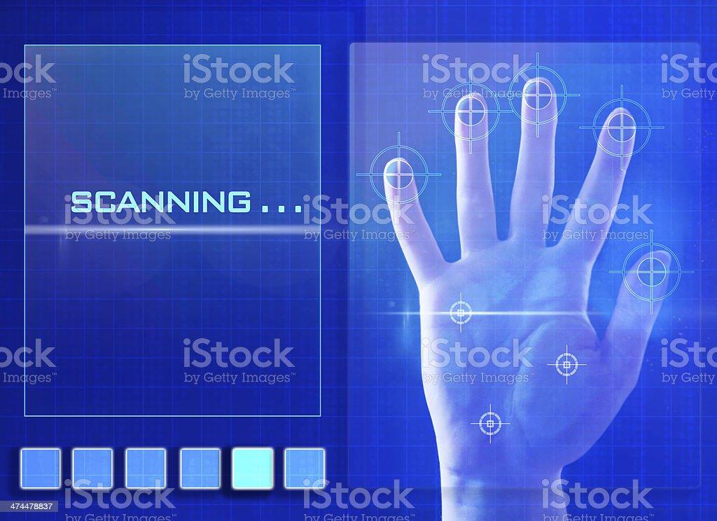 Digital Fingerprint Scanner stock photo