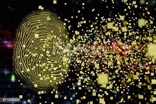 istock Digital fingerprint security concept 971348004