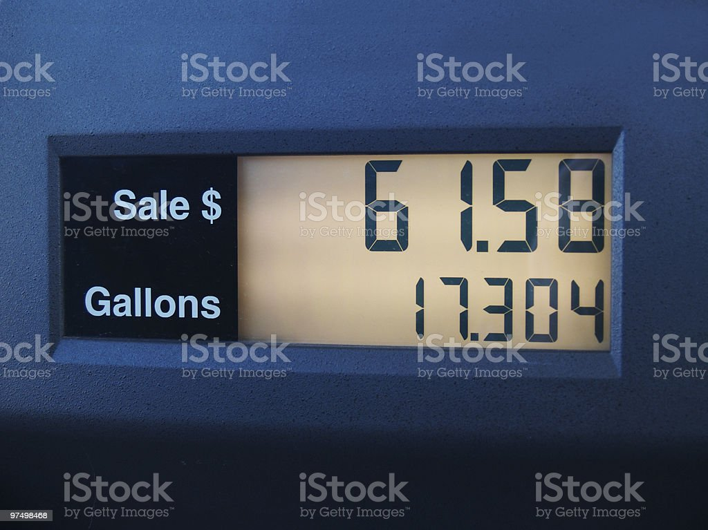 Digital Gas Meter royalty-free stock photo