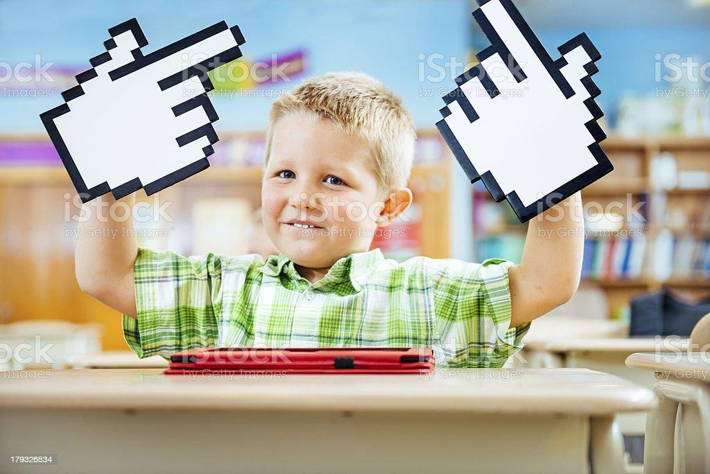 Digital Generation at School stock photo