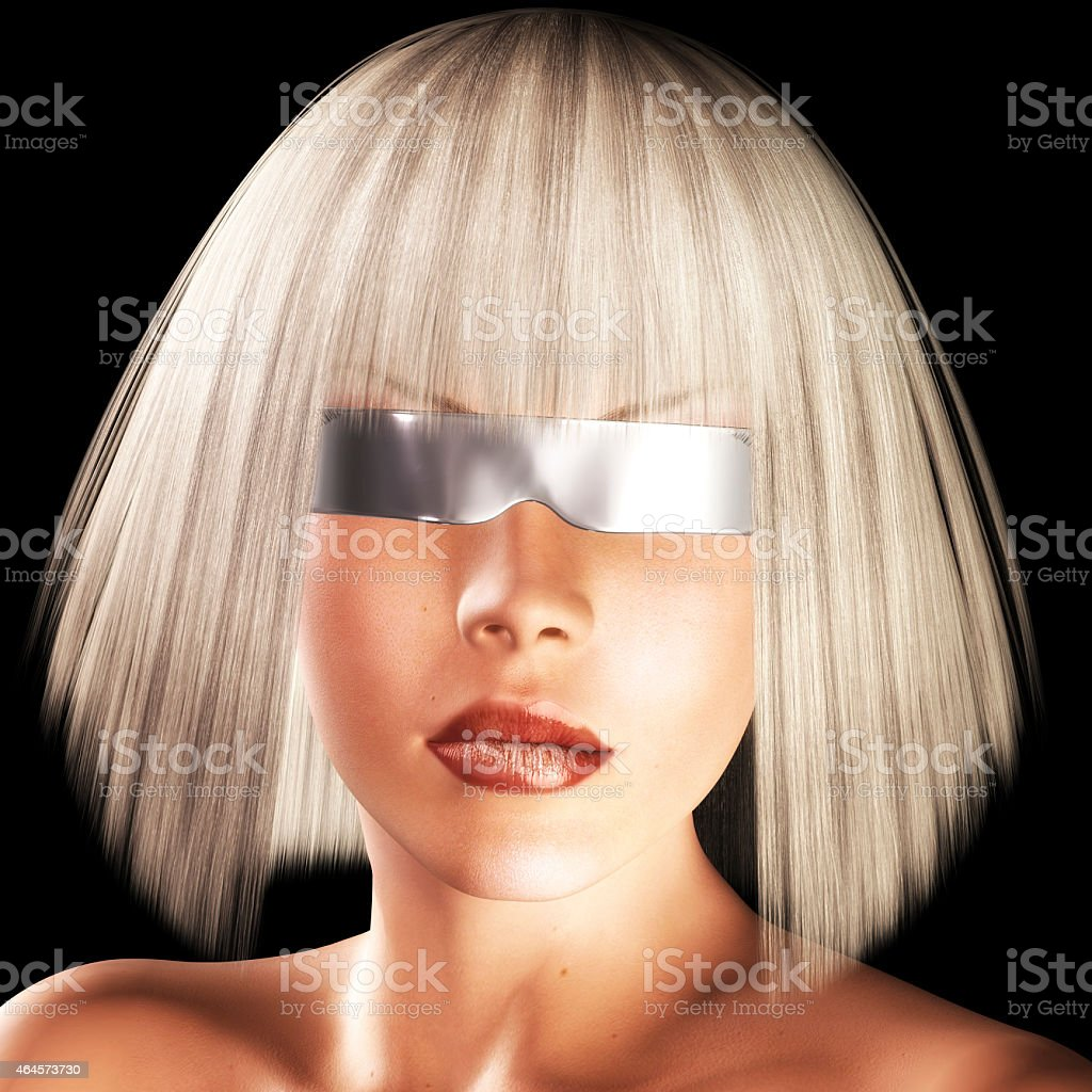 Digital Girls Face stock photo