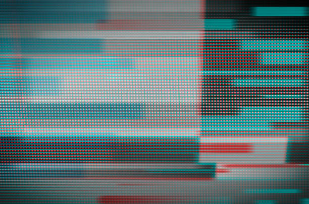 digital glitch art - problems stock pictures, royalty-free photos & images
