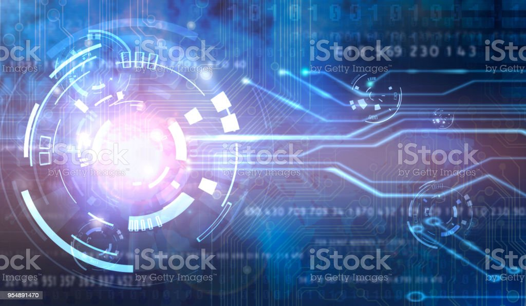 digital global technology concept  abstract background stock photo
