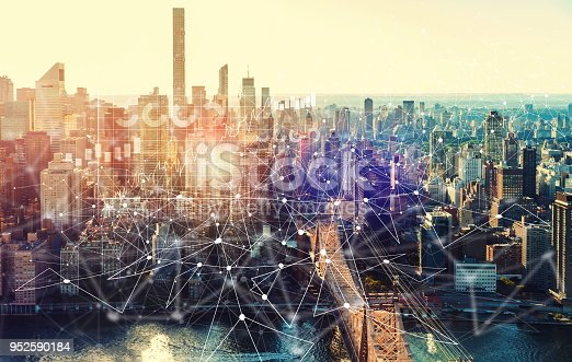 istock Digital Graph with the New York City 952590184