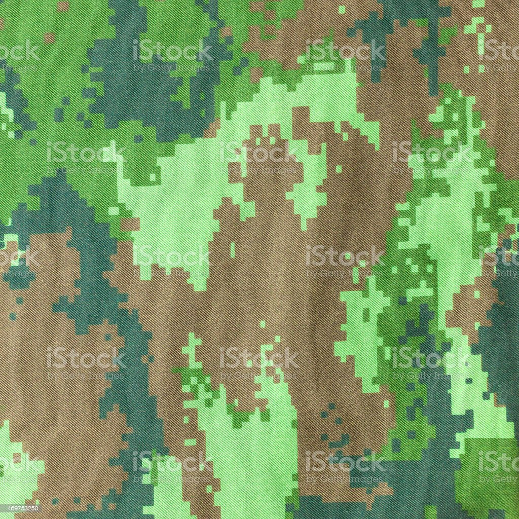 Digital Graphic Military Camouflage Fabric Background