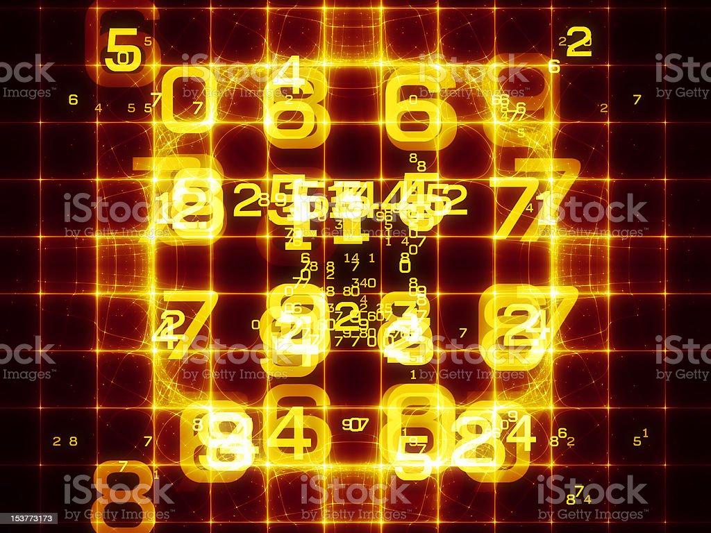 Digital Grid royalty-free stock photo
