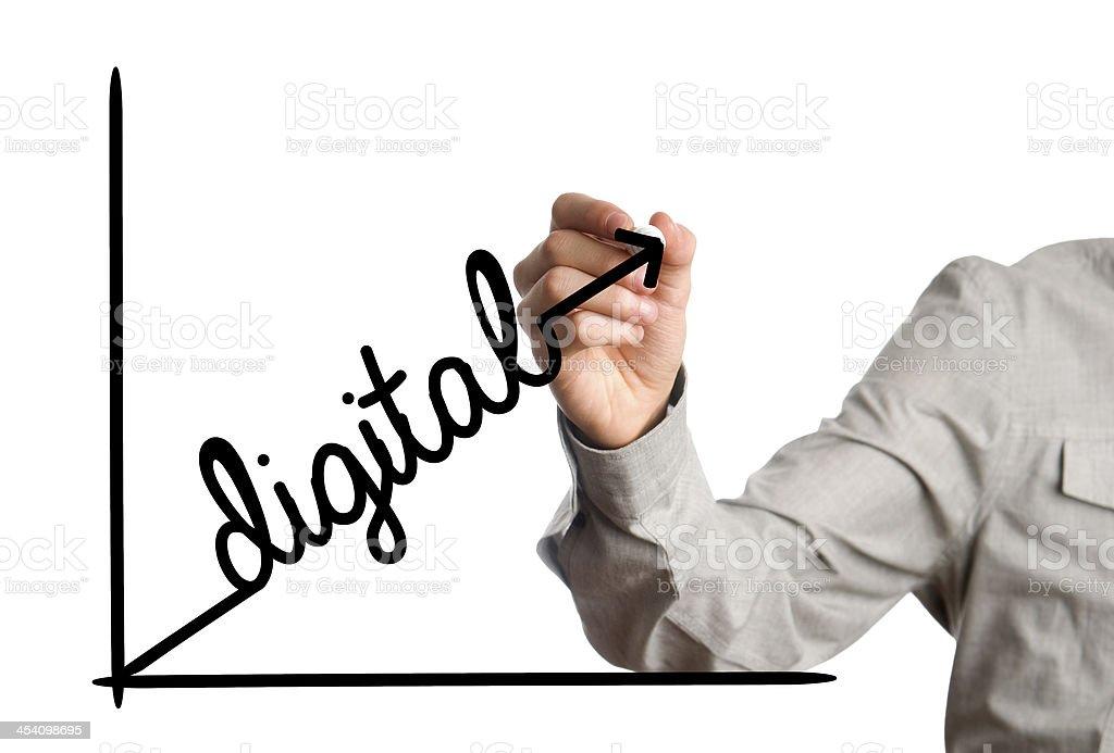 digital growth chart royalty-free stock photo