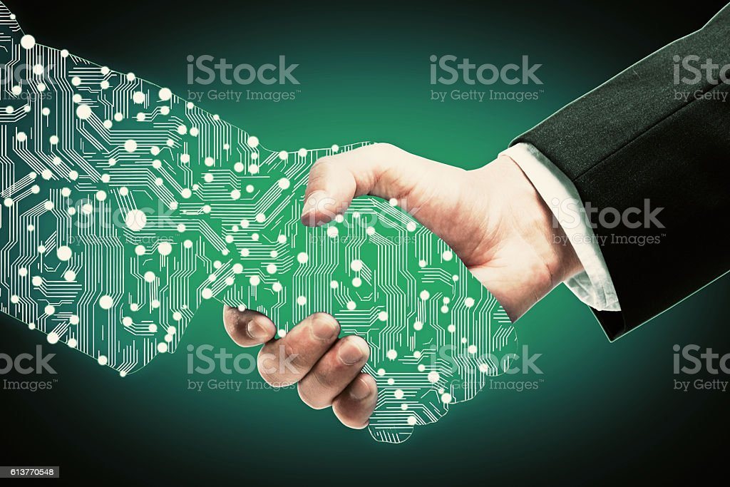 Digital handshake Lizenzfreies stock-foto