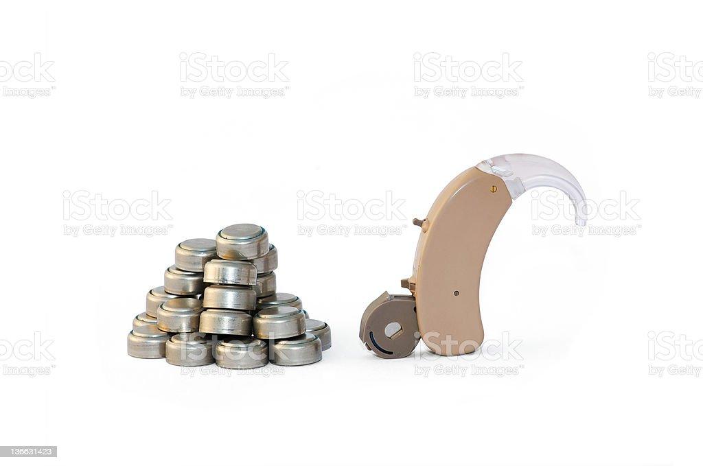 Digital apparecchio acustico e le batterie - foto stock