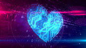 istock Digital heart symbol 1128015290
