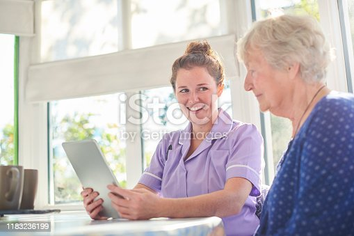 istock digital help from caregiver 1183236199
