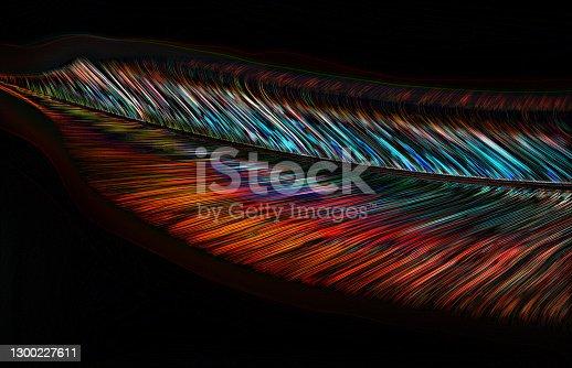 istock Digital Illustration Beautiful Feather in Soft Light 1300227611