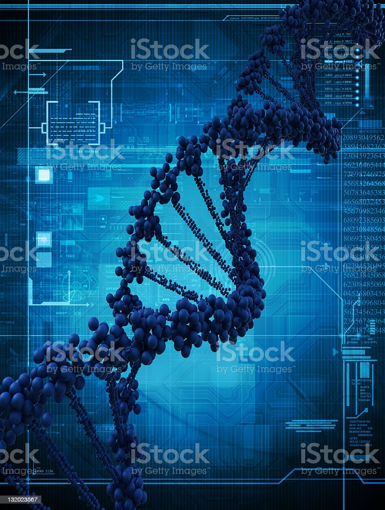 Digital illustration of a dna royalty-free stock photo