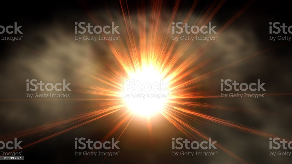 Digital Illustration of an Explosion stock photo