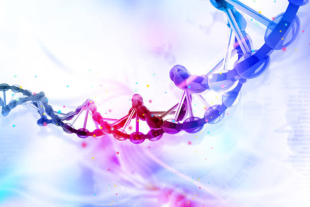 digital illustration of dna - genetic research stock photos and pictures