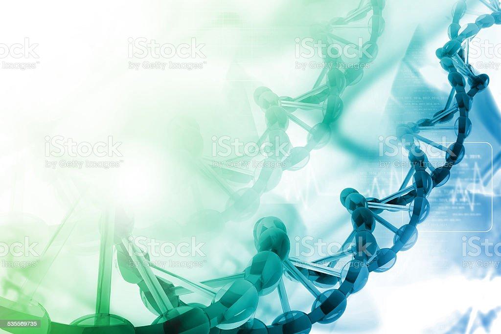 Ilustración Digital de ADN - foto de stock
