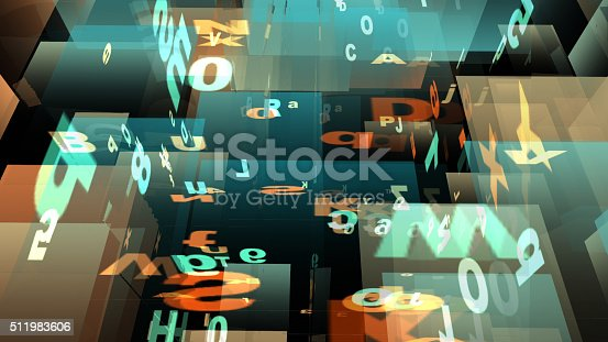 istock Digital Illustration of Letters and Numbers 511983606