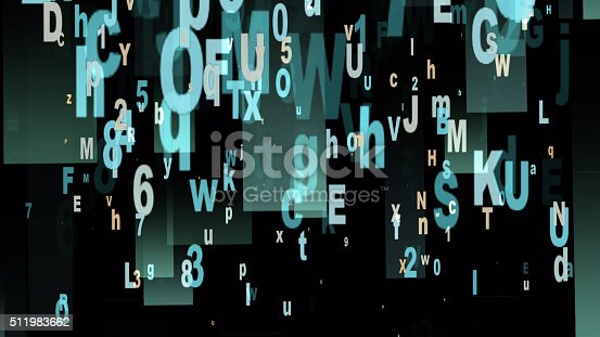 istock Digital Illustration of Letters and Numbers 511983662