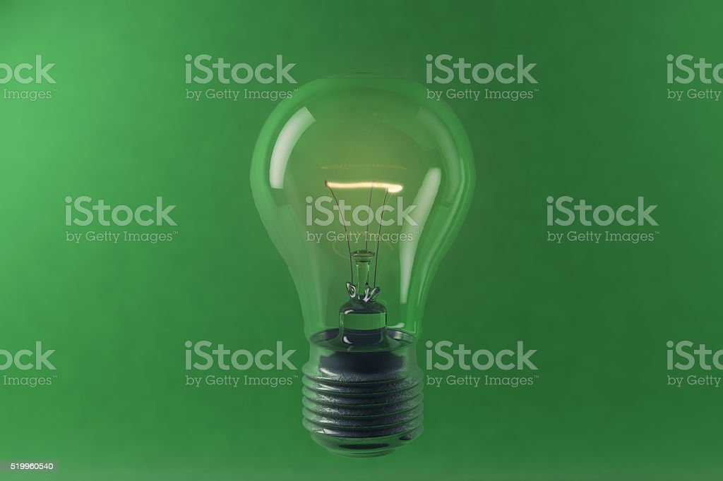 Digital illustration of lighting electric bulb stock photo