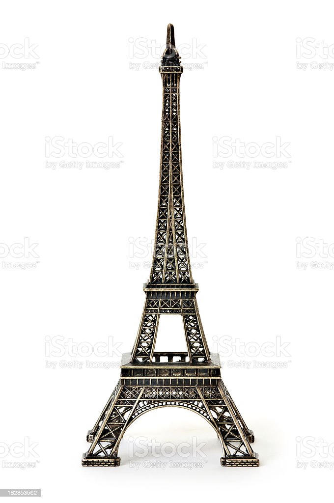 A digital illustration of the Eiffel Tower stock photo