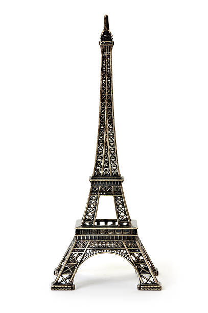 a digital illustration of the eiffel tower - eiffel tower stock photos and pictures