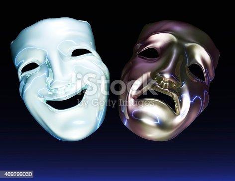 istock Digital Illustration of Theater Masks 469299030