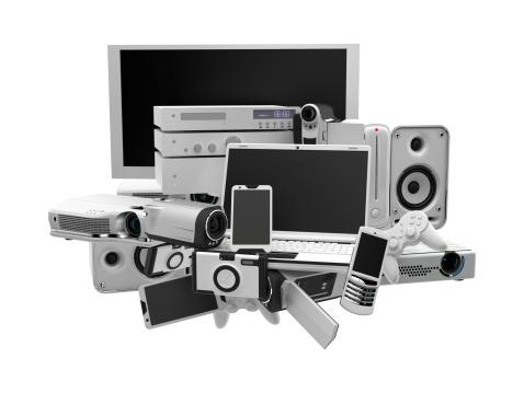 3D illustration of electronic equipment
