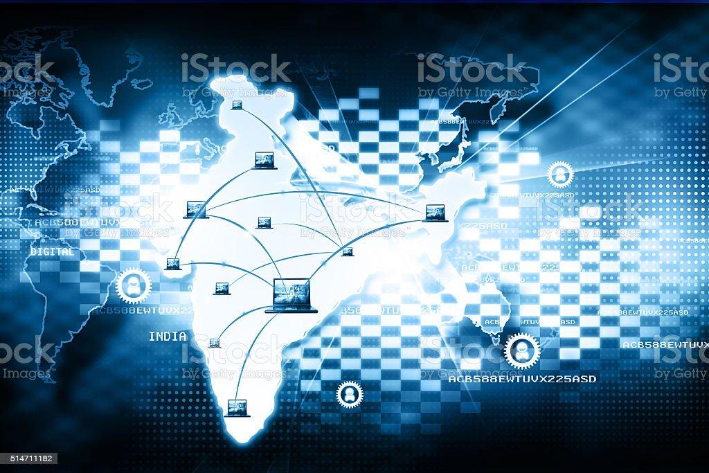 Digital India internet technology royalty-free stock photo