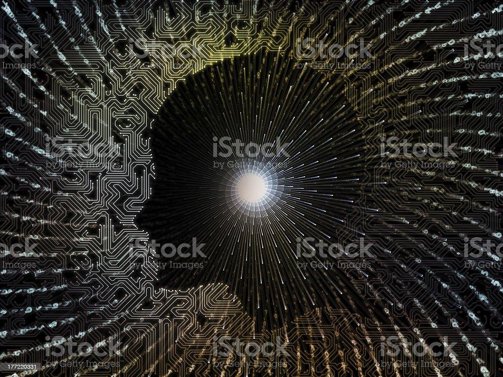 Digital Intelligence royalty-free stock photo