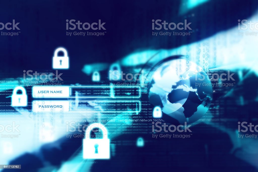 Digital internet security stock photo