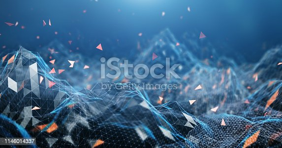 Abstract background image, perfectly usable for a wide range of topics related to computer networks or technology in general.