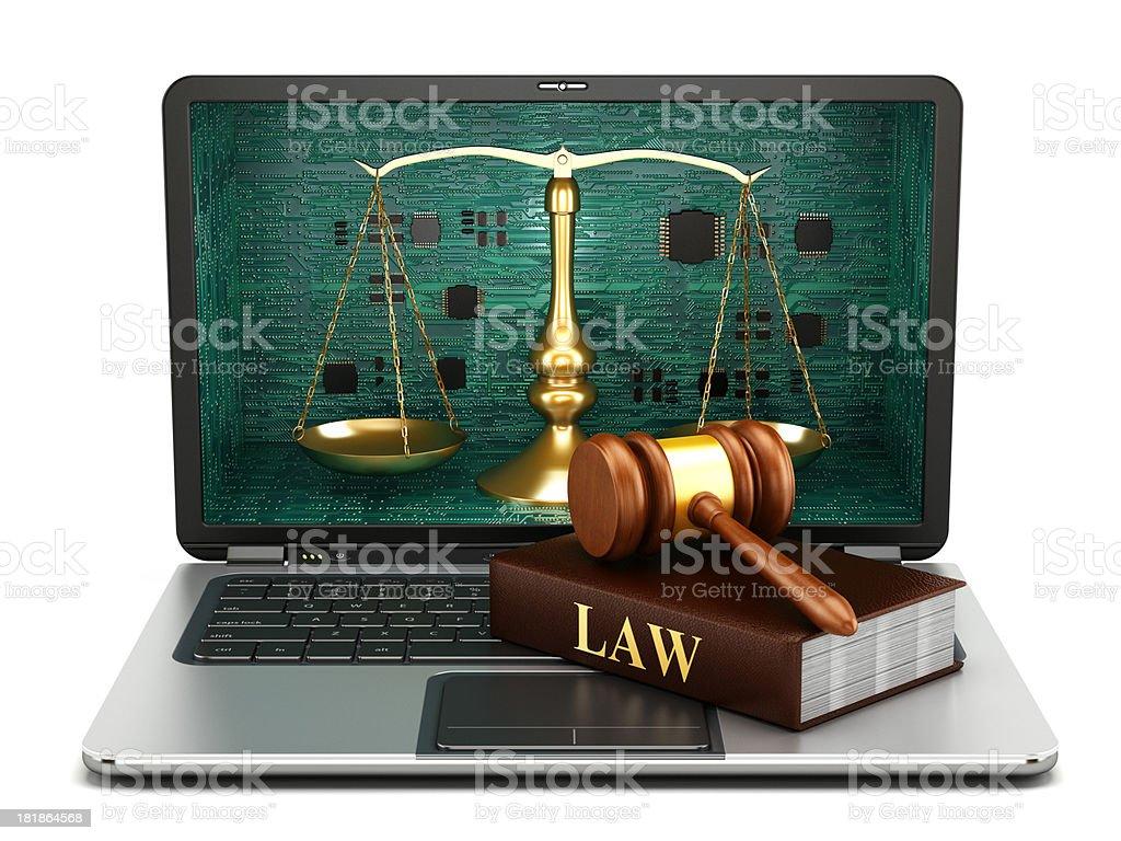 Digital law royalty-free stock photo