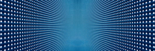 digital led screen backgrounds textured - disco lights stock photos and pictures