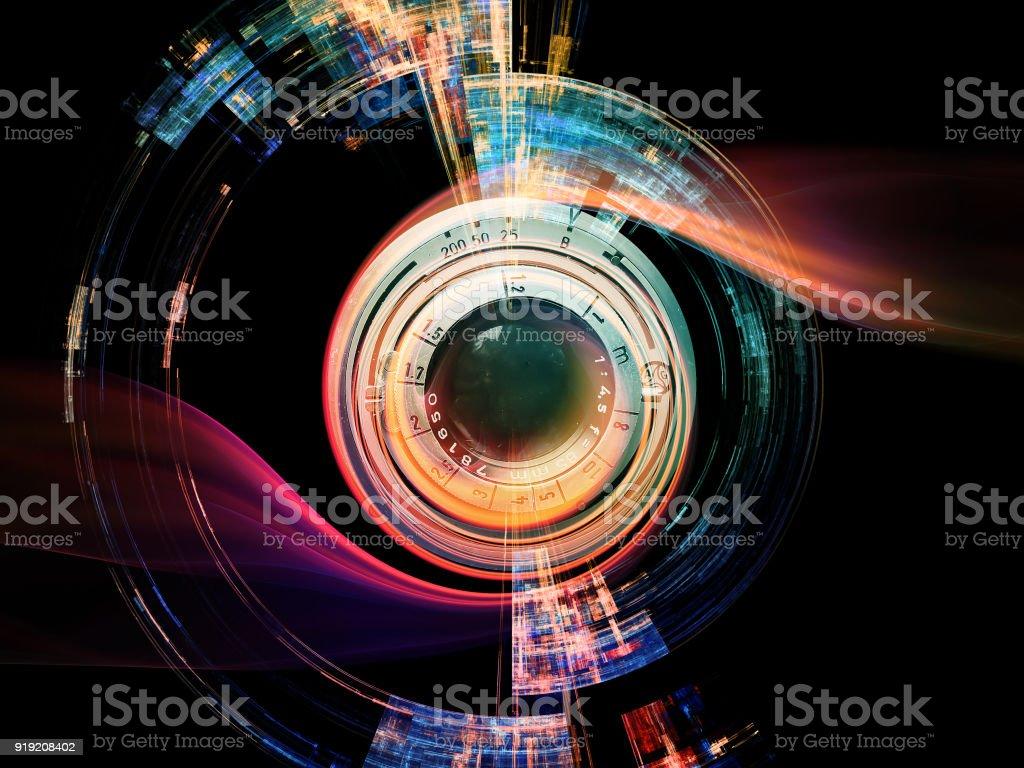 Efecto de lente digital foto de stock libre de derechos