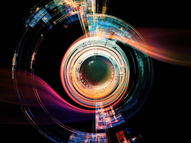 digital lens effect - camera lens stock photos and pictures