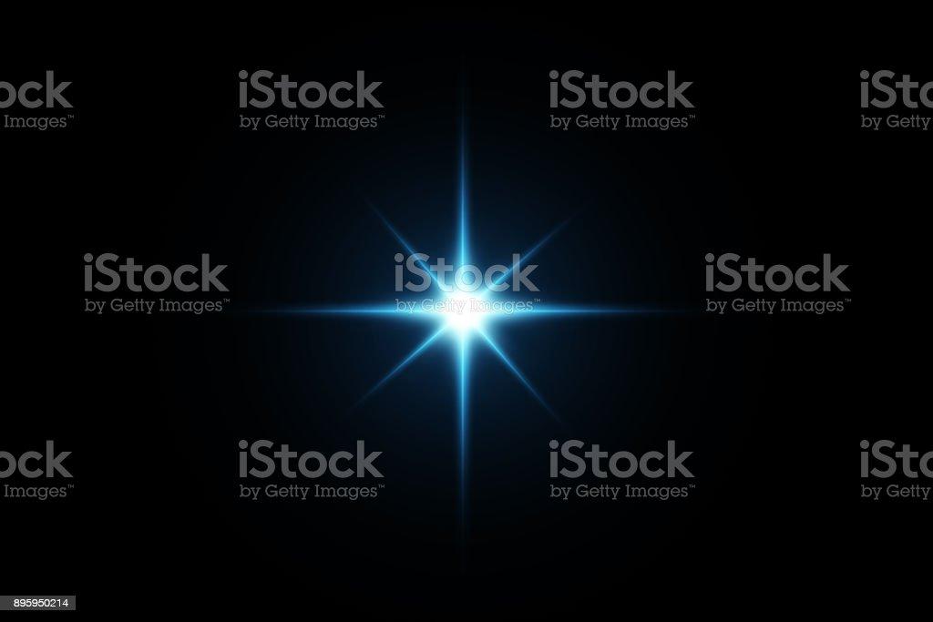 Digital Lens flare, Sonne platzen auf schwarzem Hintergrund. – Foto