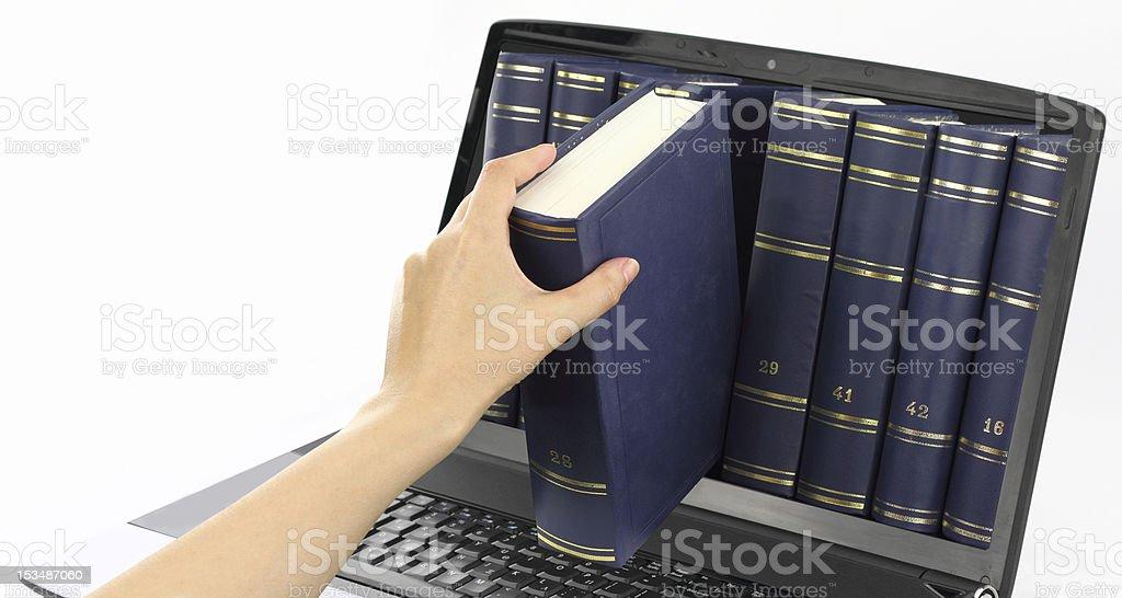 Digital library royalty-free stock photo