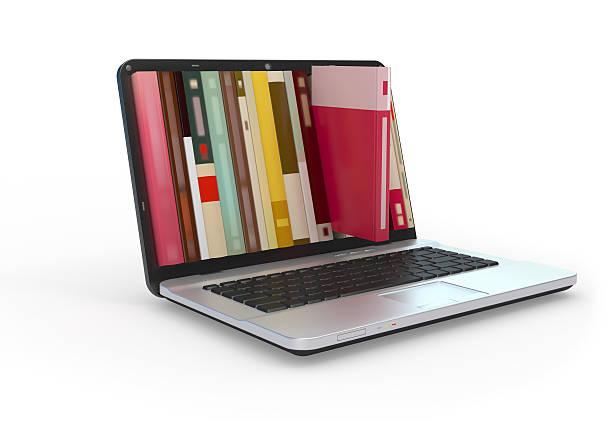 biblioteca digital. - biblioteca fotografías e imágenes de stock
