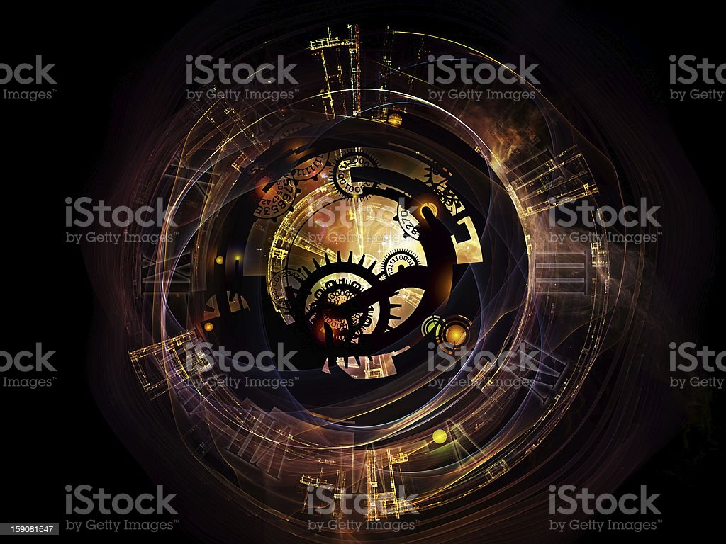 Digital Life of Clockwork stock photo